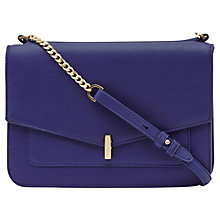 Buy Reiss Tali Lock Pocket Shoulder Bag, Blue Online at johnlewis.com