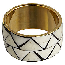 Buy John Lewis Bombay Cafe Napkin Ring, Ivory/ Gold Online at johnlewis.com