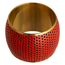 Buy John Lewis Orange Punched Napkin Ring Online at johnlewis.com