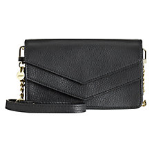 Buy Jigsaw Minnie Micro Leather Across Body Bag, Black Online at johnlewis.com