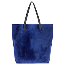 Buy Jigsaw Phoebe Shearling Tote, Navy Online at johnlewis.com
