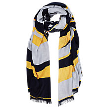 Buy Windsmoor Colour Block Scarf, Ochre Online at johnlewis.com