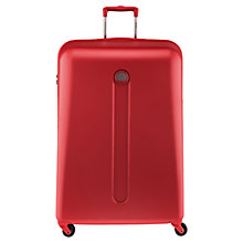 Buy Delsey Helium 4-Wheel Large Suitcase, Silver Online at johnlewis.com