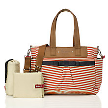 Buy Babymel Cara Stripe Changing Bag, Red/White Online at johnlewis.com