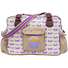 Buy Pink Lining Yummy Mummy Dragonfly Changing Bag, Purple Online at johnlewis.com