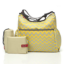 Buy Babymel Slouchy Zigzag Changing Bag, Yellow/Grey Online at johnlewis.com