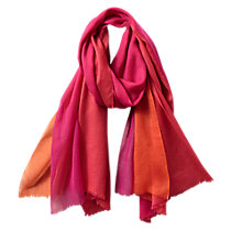 Buy East Mandarin Tri-Colour Scarf, Ginger Online at johnlewis.com