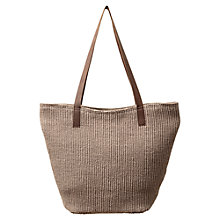 Buy East Classic Style Jute Bag, Stone Online at johnlewis.com