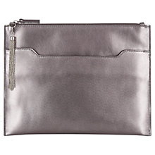 Buy Kaliko Leather Clutch, Gunmetal Online at johnlewis.com