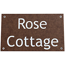 Buy ashortwalk Recycled Personalised Door Sign, House Name 2 Lines, Wood Effect Online at johnlewis.com