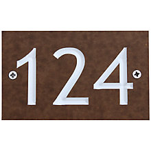 Buy ashortwalk Recycled Personalised Door Sign, House Number 100-999, Wood Effect Online at johnlewis.com