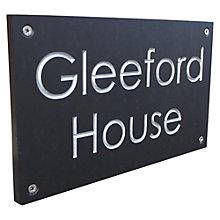 Buy ashortwalk Recycled Personalised Door Sign, House Name 2 Lines, Slate Effect Online at johnlewis.com