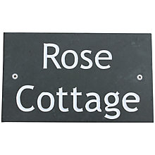 Buy ashortwalk Slate Personalised Door Sign, House Name 2 Lines Online at johnlewis.com