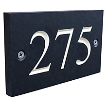 Buy ashortwalk Recycled Personalised Door Sign, House Number 100-999, Slate Effect Online at johnlewis.com