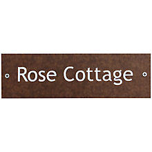 Buy ashortwalk Recycled Personalised Door Sign, House Name 1 Line , Wood Effect Online at johnlewis.com