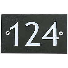 Buy ashortwalk Slate Personalised Door Sign, House Number 100-999 Online at johnlewis.com