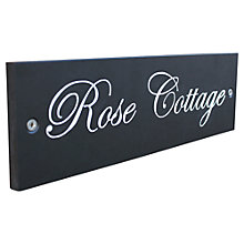 Buy ashortwalk Recycled Personalised Door Sign, House Name 1 Line , Slate Effect Online at johnlewis.com