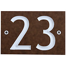 Buy ashortwalk Recycled Personalised Door Sign, House Number 1-99, Wood Effect Online at johnlewis.com