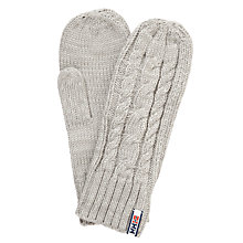 Buy Helly Hansen Montreal Chunky Knit Mittens, One Size, Grey Online at johnlewis.com