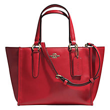 Buy Coach Crosby Mini Leather Carryall Bag, Red Online at johnlewis.com