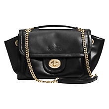Buy Coach Ranger Flap Leather Across Body Bag, Black Online at johnlewis.com