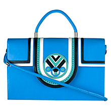Buy Holly Fulton For Radley Leather Shoulder Bag, Blue Online at johnlewis.com