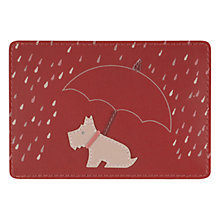 Buy Radley Right As Rain Travel Card Holder, Red Online at johnlewis.com