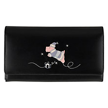 Buy Radley Christmas Wish Leather Flapover Purse, Black Online at johnlewis.com