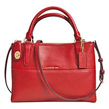 Buy Coach Borough Mini Turnlock Leather Across Body Bag, Red Online at johnlewis.com
