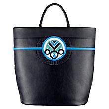 Buy Holly Fulton For Radley Leather Shopper Bag, Navy Online at johnlewis.com