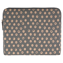 Buy Radley Moon Dots Large Zip iPad Cover, Grey Online at johnlewis.com