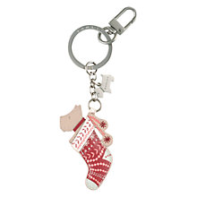 Buy Radley Stocking Filler Keyring, Red Online at johnlewis.com