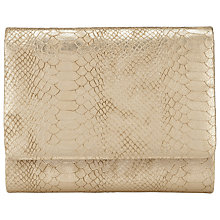 Buy COLLECTION by John Lewis Babs Clutch Bag, Gold Lizard Online at johnlewis.com