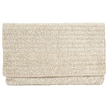 Buy John Lewis 100s & 1000's Clutch Bag, Gold Online at johnlewis.com