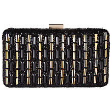 Buy COLLECTION by John Lewis Tasha Hard Case Clutch Bag, Black Online at johnlewis.com