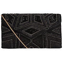 Buy COLLECTION by John Lewis Louisa Foldover Clutch, Black Online at johnlewis.com