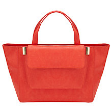 Buy COLLECTION by John Lewis Giselle Mini Grab Bag, Orange Lizard Online at johnlewis.com