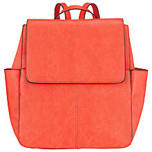 Buy COLLECTION by John Lewis Gia Backpack, Orange Lizard Online at johnlewis.com