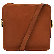 Buy John Lewis Gosling Leather Large Box Bag,Tan Online at johnlewis.com