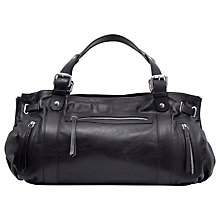 Buy Gérard Darel Leather Le Rebelle Handbag, Black Online at johnlewis.com