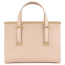 Buy Ted Baker Harpel Metal Bar Leather Tote Bag Online at johnlewis.com