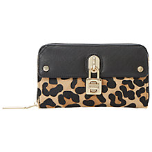 Buy Dune Kadlocklep Padlock Purse, Leopard Online at johnlewis.com