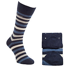 Buy Gant Stripe and Dot Socks, Pack of 2, One Size, Navy/Grey Online at johnlewis.com