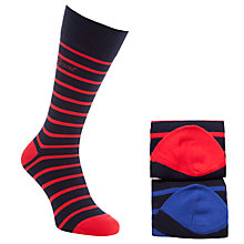Buy Gant Striped Socks Gift Set, Pack of 2, One Size, Multi Online at johnlewis.com