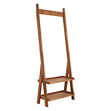 Buy John Lewis Solid Oak Coat and Shoe Rack Online at johnlewis.com