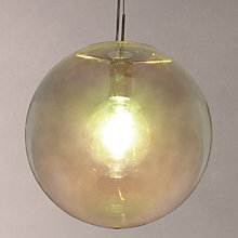 Buy John Lewuis Caprice Single Glass Pendant, Metallic Online at johnlewis.com