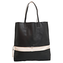 Buy Mango Leather Lining Shopper Bag, Black Online at johnlewis.com