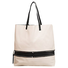Buy Mango Leather-lined Shopper Handbag Online at johnlewis.com