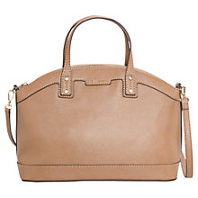 Buy Mango Saffiano Effect Tote, Medium Brown Online at johnlewis.com