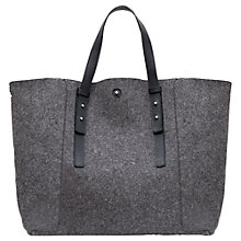 Buy Gerard Darel Leather Bag, Grey Online at johnlewis.com